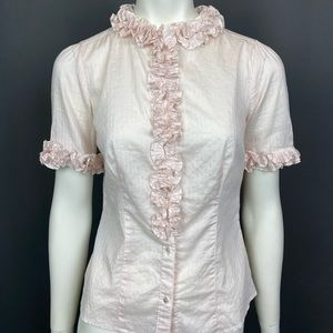 BR Pink Ruffle Blouse